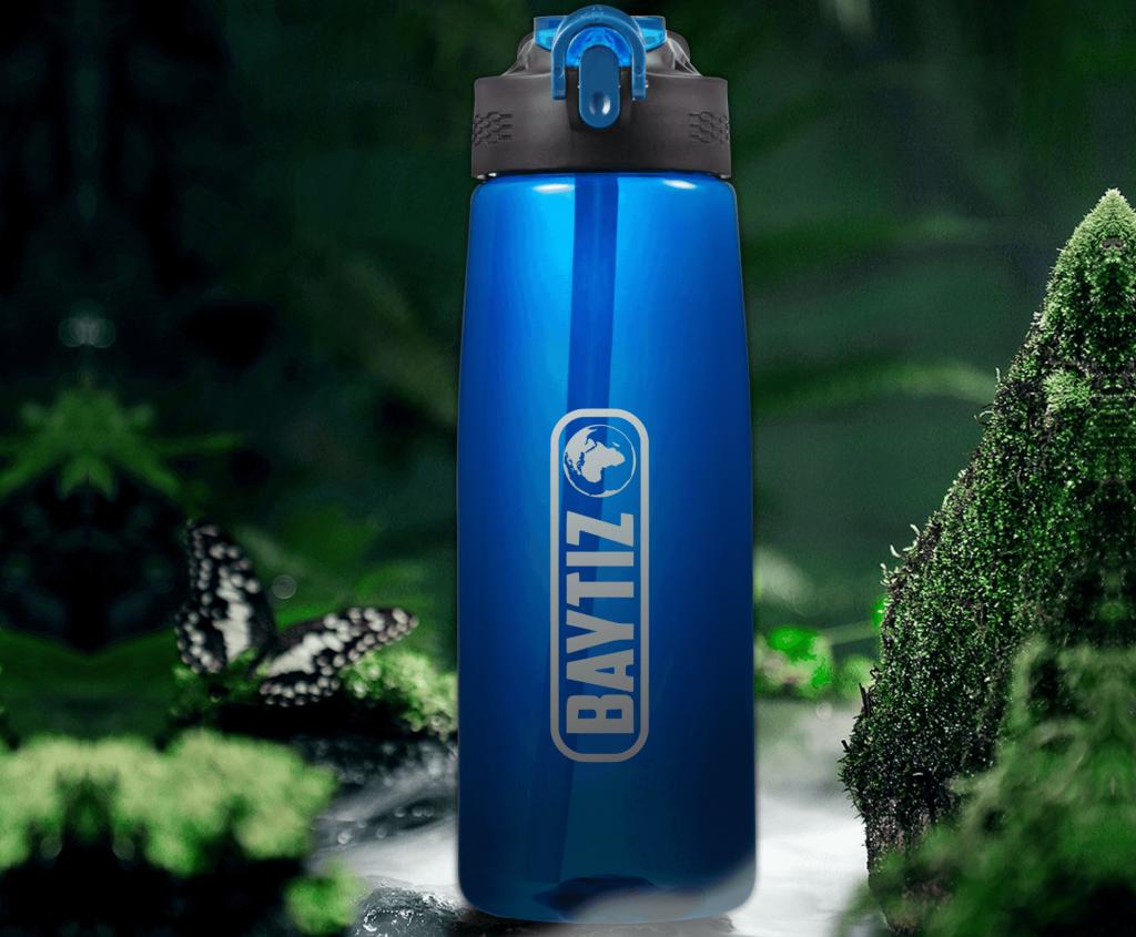 gourde filtrante baytiz bouteille filtre à eau voyage survie paille